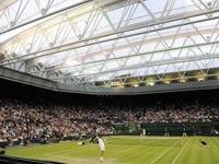 גג במגרש המרכזי בווימבלדון, טניס / צלם: רויטרס
